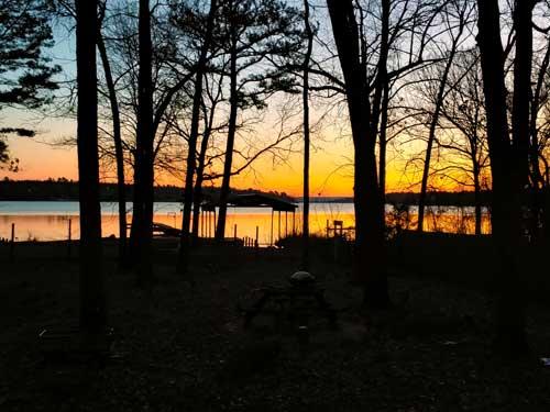 Sunrise over Sugarloaf Lake, Hackett Arkansas
