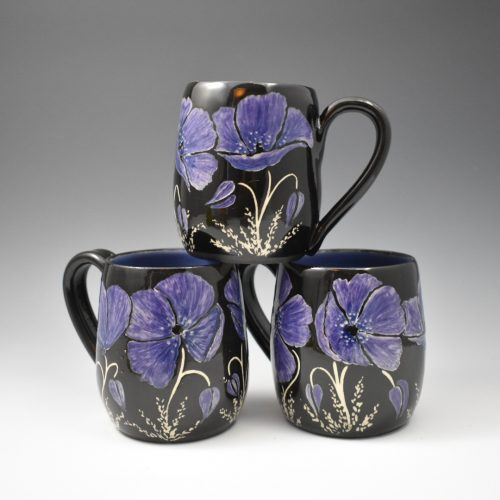Purple Poppy Coffee Mugs