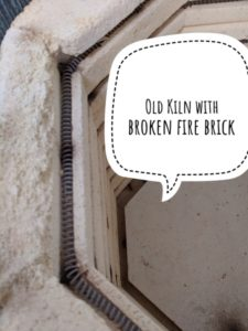 Old kiln with broken brick