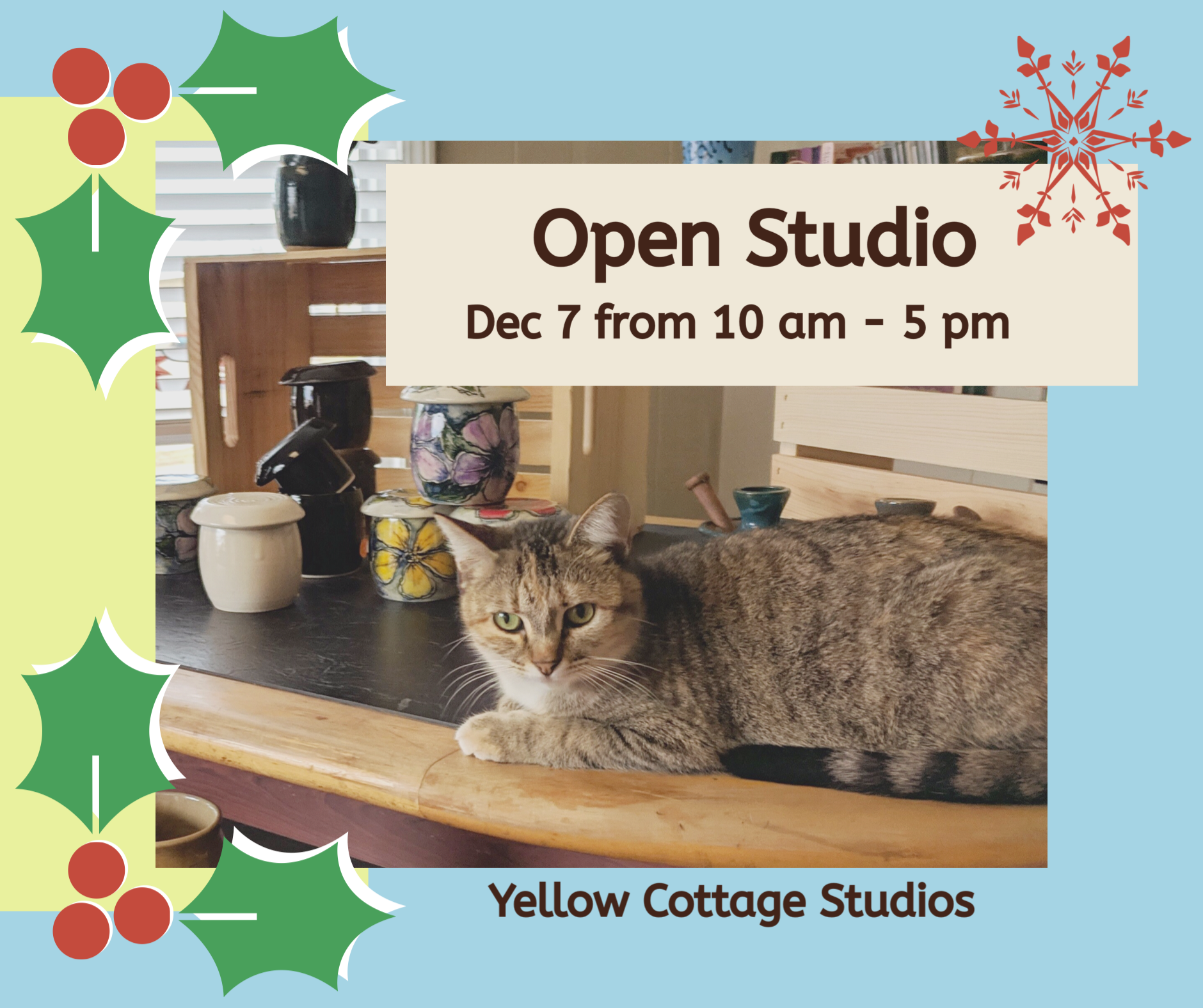 Holiday Open Studio/Sale @ Yellow Cottage Studios