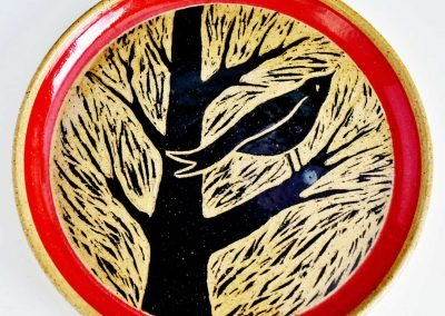 Blackbird Carved Plate