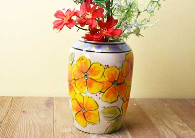 Yellow Flower Vase