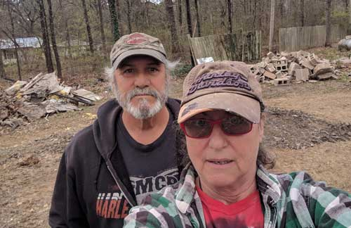 Two old folks take on a big project