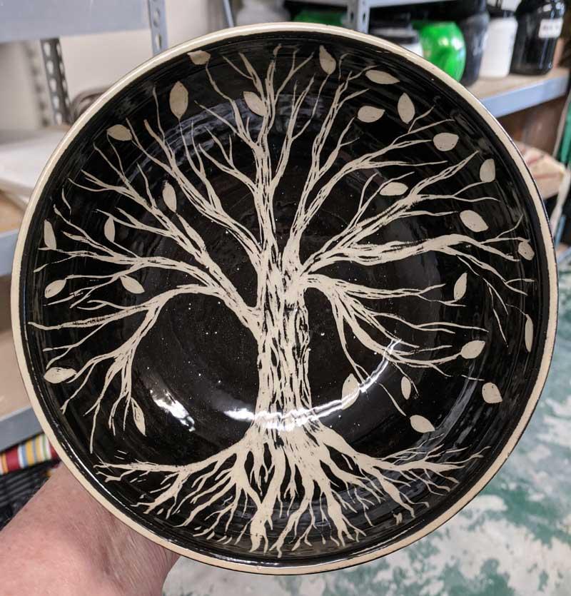 Sgrafitto Tree Bowl
