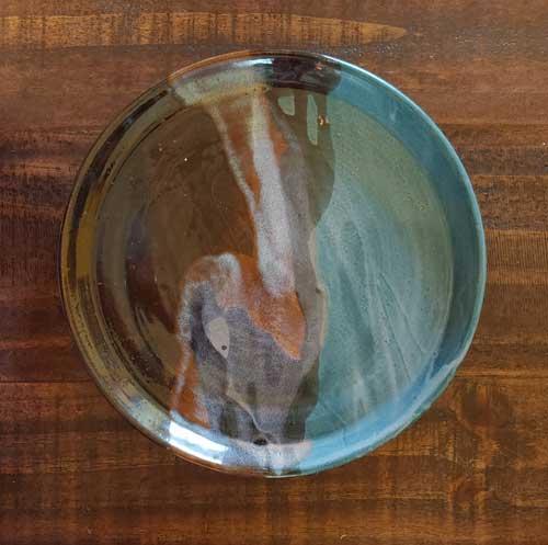 Finished Pottery glazed Plate