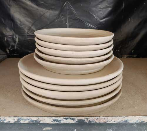 Pottery Plates waiting to be glazed