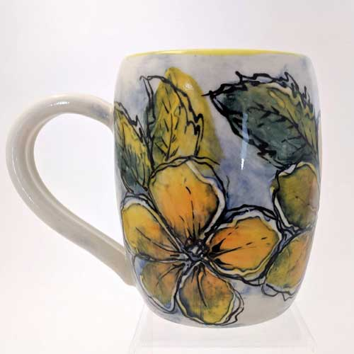 WaterColor-Mug-Yellow-Flowers