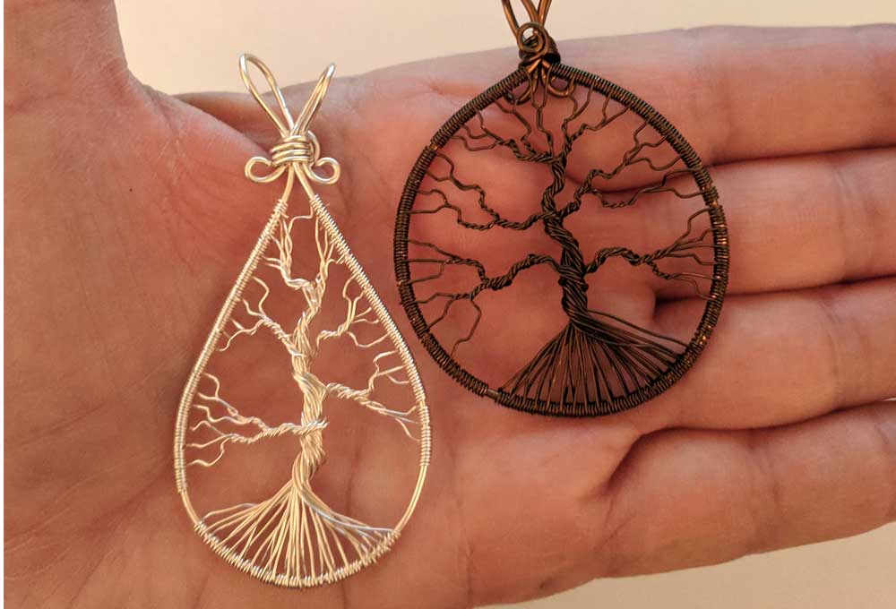 Tree of Life Wire Wrapped Pendants