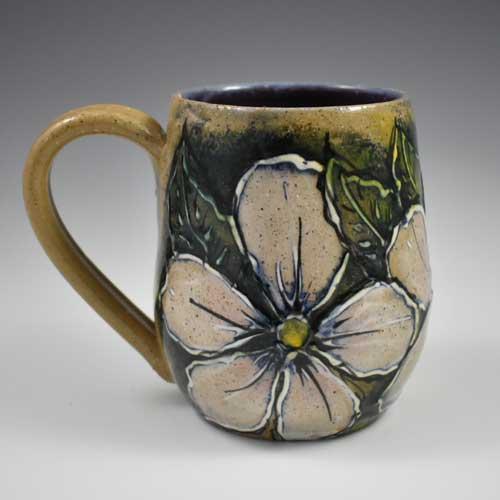 White-Flower-Mug