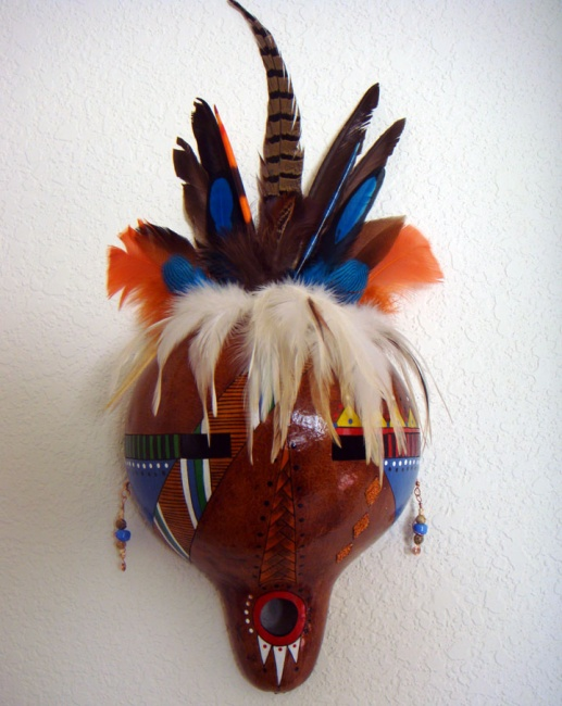 SOLD-  Magestic Warrior Gourd Mask