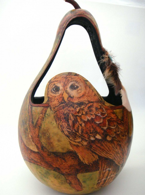 Owl Basket - SOLD